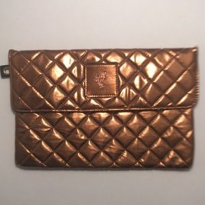 NWOT Bronze Makeup Bag/ Clutch